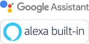 Logotipo do Google Assistente e Amazon Alexa