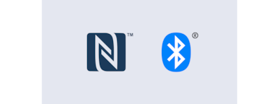 Logotipos do NFC e Bluetooth