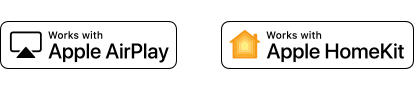 Logos da Apple AirPlay e Apple HomeKit