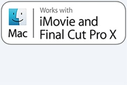 Funciona com iMovie e Final Cut Pro X